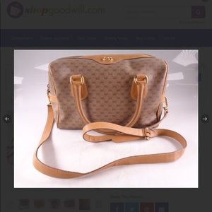 Gucci Signature Tan Leather Satchel